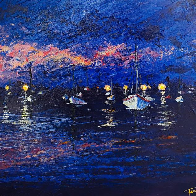 'Dusk in the Harbor'
