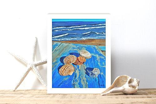 Seaside Table - Reproduced Print of Original Art ($8-$18)