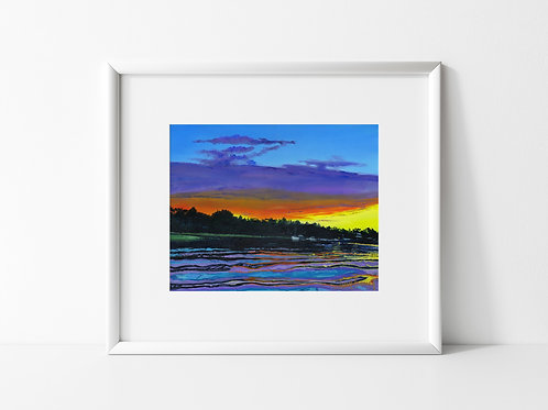 U.S.S NC at Sunset on the Cape Fear River - Reproduced Print ($8-$18)