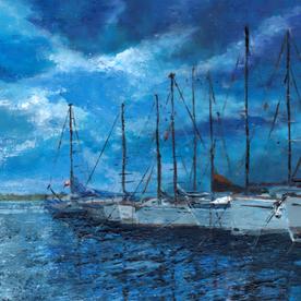 'Nightfall in Southport Marina'