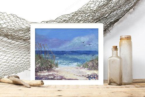 Beachy Afternoon - Reproduced Print of Original Art ($8-$18)