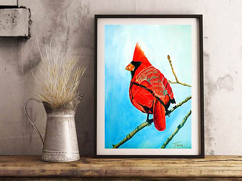 NC Cardinal - Reproduced Art Print of Original Art ($8-$18)
