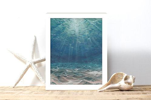 Sunlit Waters - Reproduced Print of Original Art ($8-$18)