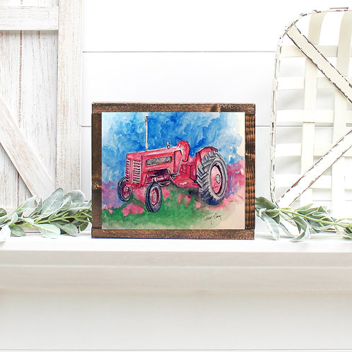 Old Red; Classic Tractor - Reproduced Print of Original Art ($8-$18)