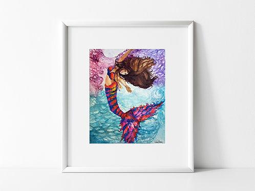 Calypso Mermaid - Reproduced Print of Original Art ($8-$18)