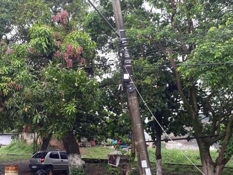 Notificação sobre a falta de energia nas localidades de Sambaetiba e Agro Brasil