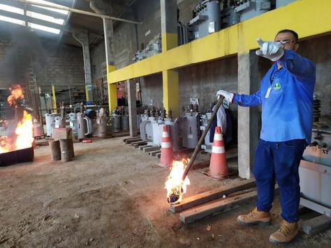 Treinamento e capacitação de combate a incêndios