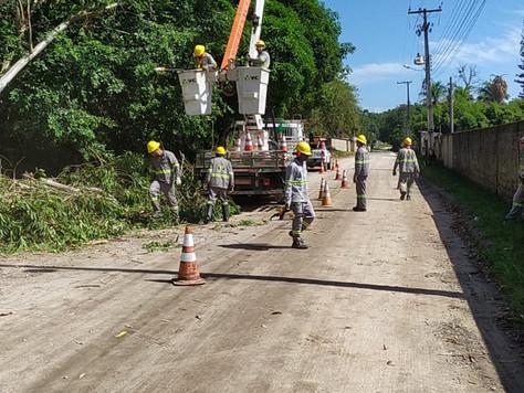 Melhoramento da rede na comunidade de Sambaetiba.