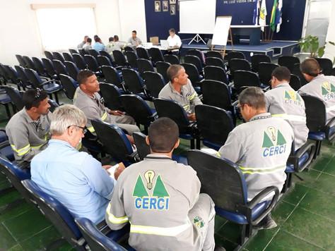 CERCI promove treinamento e capacitação da Norma Reguladora (NR10) para seus colaboradores.