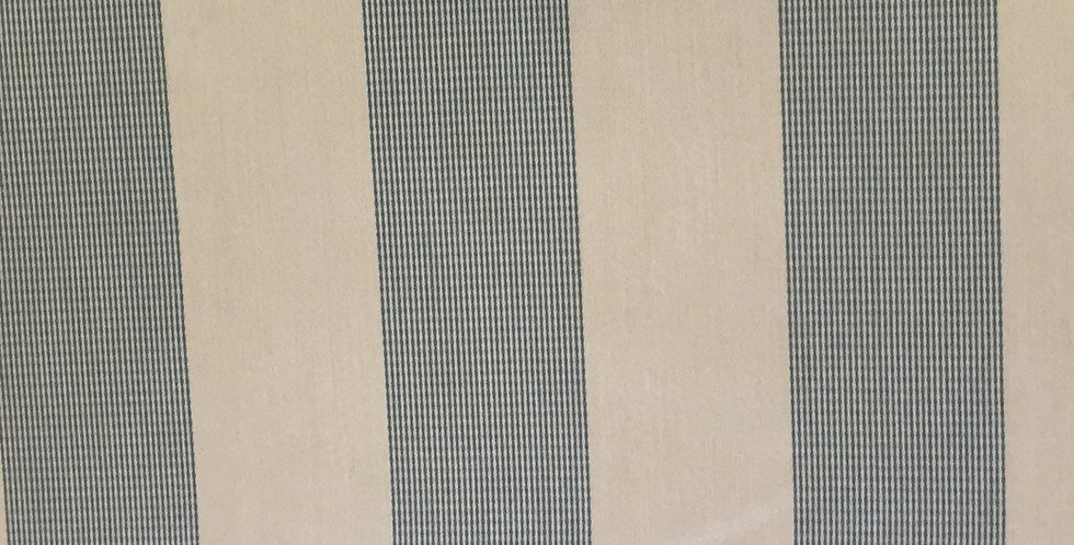 Awing Stripe - Off White and Spa Blue