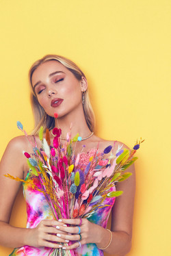 Stunning model makeup.