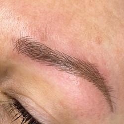 Soft natural eyebrows.