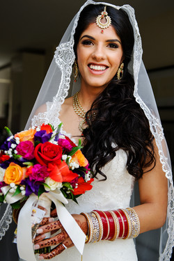 Bridal makeup perfection.