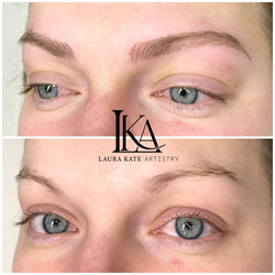 Microblading before and after.