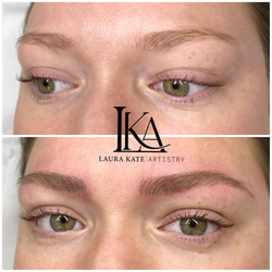Brows more lifted after Microblading.