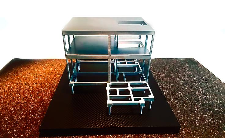 Maquete produzida em impressão 3D
