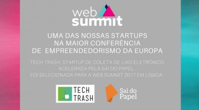 Nossa startup acelerada na Web Summit 2017