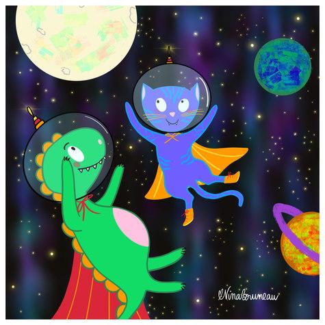 Voyage dans l'espace - Nina Bruneau