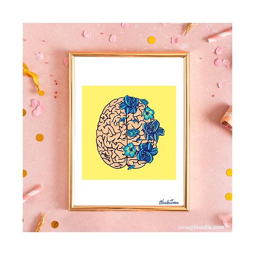 """Illustration """"Cultive ton cerveau"""" format A4"""