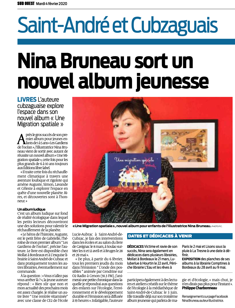 Article SudOuest 04/02/2020