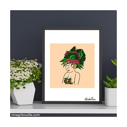 """Illustration """"Les Fleurissantes"""" format A4"""