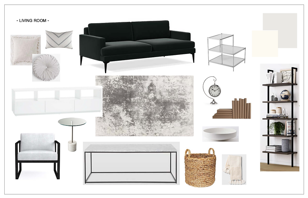 Melrose and co, Interior design, los angeles, lay out, mood board