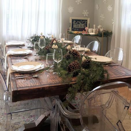 MelRose DIY: Let it Snow Christmas Tablescape