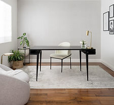 Office, Desk, Wallpaper, Interior Design, MelRose and Co., Los Angeles, CA
