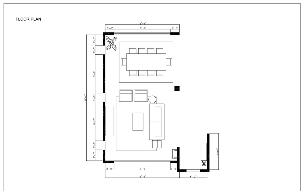 Melrose and co, Interior design, los angeles, design plan, layout