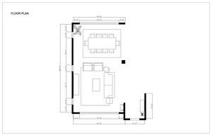 Melrose and co, Interior design, los angeles, design plan, layout