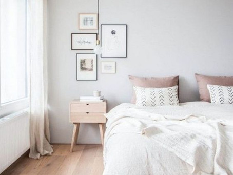 MelRose Mock-Up: Minimalist Scandinavian Bedroom