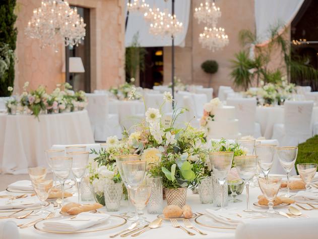 Wedding Mallorca Patio Dinner Decoration