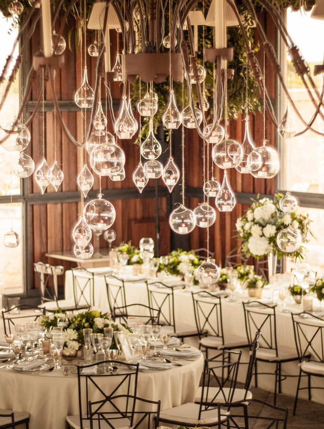 Wedding Mallorca hanging candles