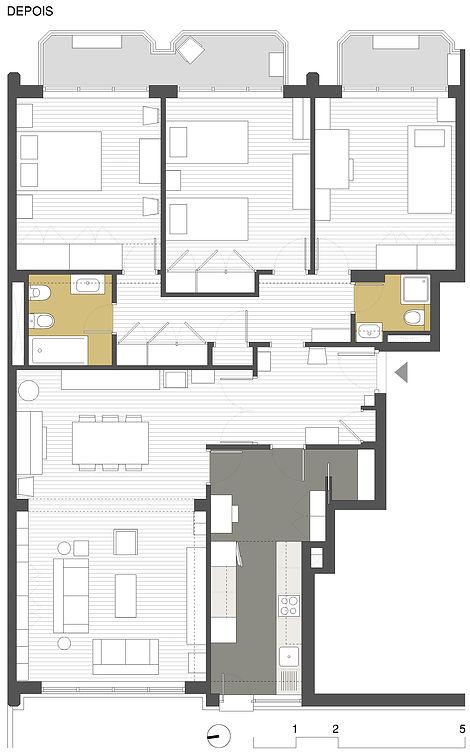 Arquitecto Ricardo Moutinho, Remodelação de apartamento em São Domingos de Benfica