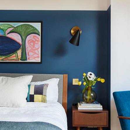 Hicks blue bedroom