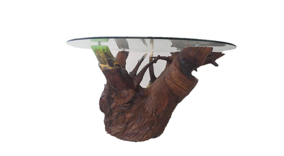 Mesa de jantar de raiz