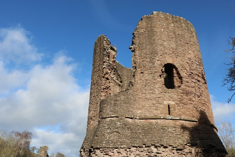 The Round Tower of Skenfrith Castle