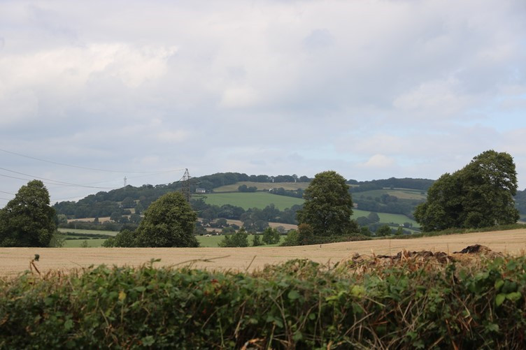 The Landscape around Llanwern Church