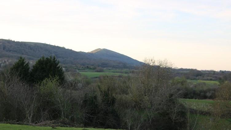 Across at the Malvern Hills