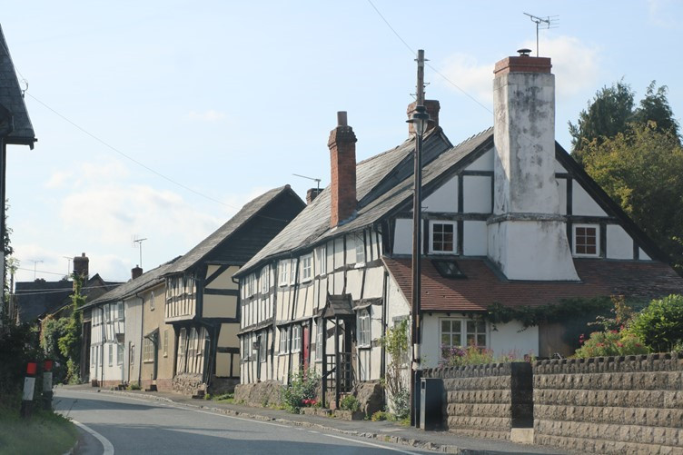 The half-timbered houses of the Black and White Trail