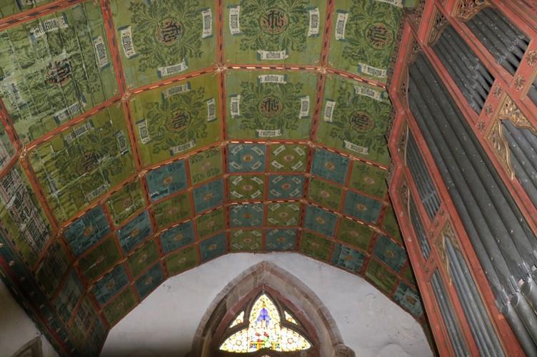 Interior Ceiling at Kinnersley Church