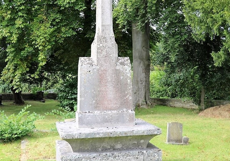 The weather-worn grave of Lord Rhondda