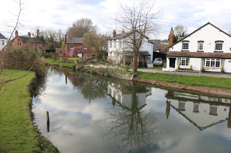The River Arrow at Eardisland in Herefordshire