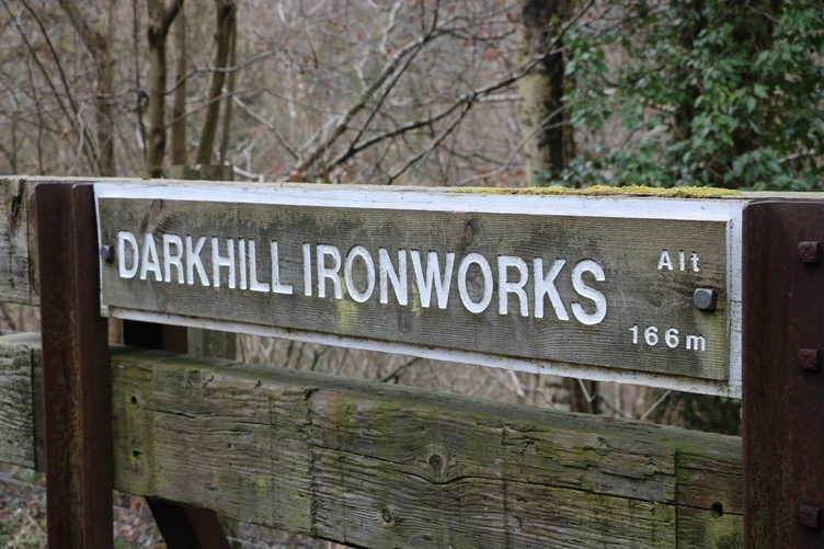 Now on the Cycle Trail Which Runs Past The Site of Dark Hill Iron Works