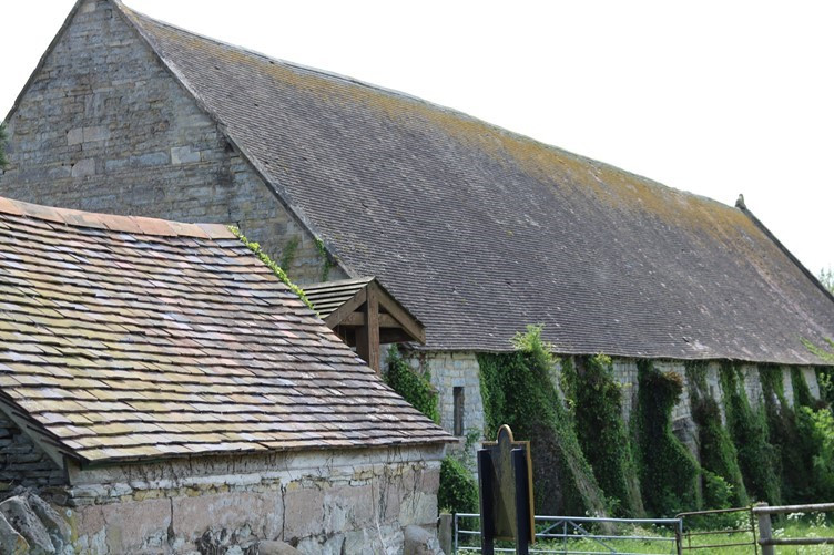 Some of the old village buildings at Hartpury
