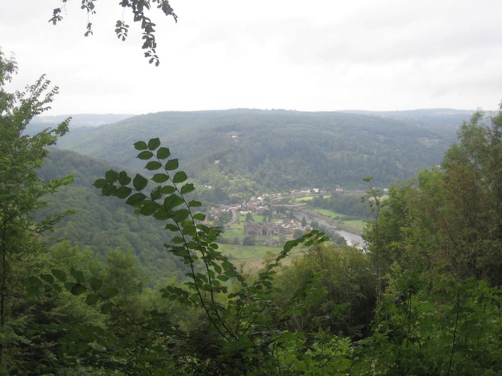 Down to Tintern Abbey from the Devil's Pulpit