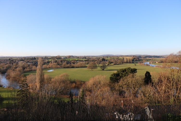 The Viewpoint from the Prospect in Ross-on-Wye