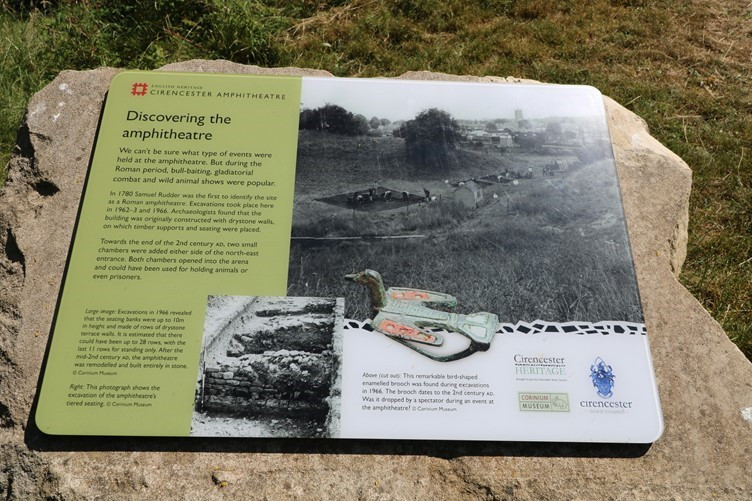 One of the information panels