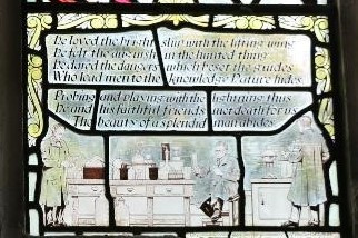 The Stained Glass Window to An Extra Ordinary Man