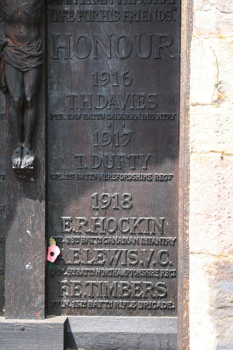 Names of Honour on the Cavalry door at Whitney Church